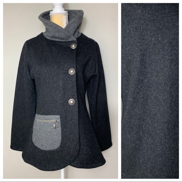 Icelandic Design Jackets & Blazers - Icelandic Design Charcoal Wool Outerwear M